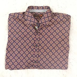 Ted baker printed button down shirt